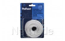Profoon - Modulaire kabel 6p4c, wit 15 m. mod-k150 - MODK150