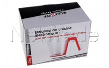 Equinox - Weegschaal elec plast 1.2l wit/rood - 516559