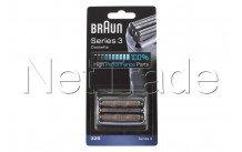 Braun - Scheercassette -32s- serie 3 -silver - 81633297
