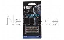 Braun - Scheercassette  - serie 3 - 32b -  zwart - 81483728