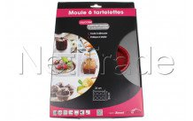 Crealys - Bakvorm 6 tartelettes sweet 29x32cm silicone/staal - 511899