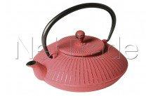 Crealys - Zwaan theepot gietijzer 800 ml rode mandarijn - 507151