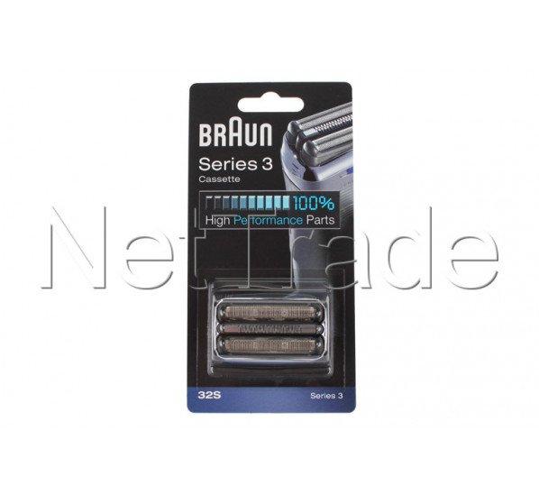 braun cassette de rasage serie 3 32s silver 81633297. Black Bedroom Furniture Sets. Home Design Ideas