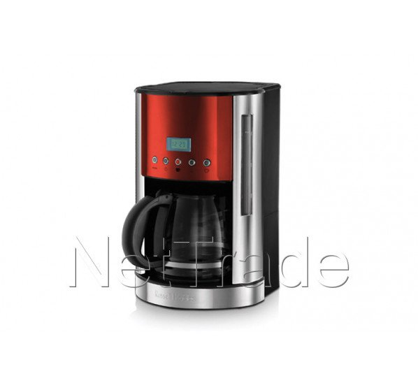 Russell Hobbs Coffee Maker Jewels Ruby Red Glass Jug Lcd Display 1862656