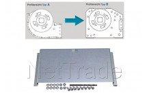 Aeg - Konvertierung-platte für lüfter tangiaal-system a bis b-180 mm - 691677